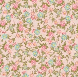 Riley Blake Designs Rose & Violets Garden Sweet Blossoms 10413 blush rosa
