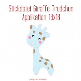 Stickdatei Applikation Giraffe Trudchen 13x18