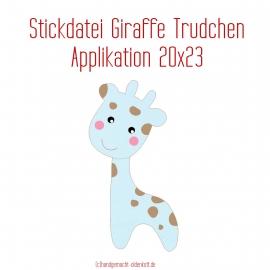 Stickdatei Applikation Giraffe Trudchen 20x23
