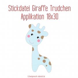 Stickdatei Applikation Giraffe Trudchen 18x30