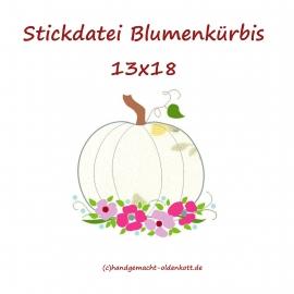 Stickdatei Blumen Kürbis 13x18