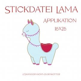 Sickdatei Lama 13x18 Applikation